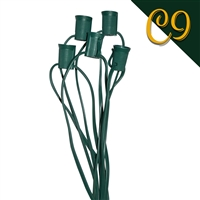 "C9 Cord w/5 sockets - 72"" Spacing Sockets - 26'"