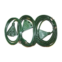 24ft 3 Way Extension Cord (QTY 8)