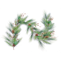 "Artisan Mixed Mountain Berry Garland 9' x 21"" (Qty 4) Unlit"