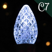 LED C7 Cool White Transparent - Faceted (500 qty)