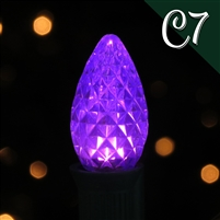 LED C7 Purple Transparent - Faceted (250 qty)