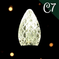LED C7 Pure White Transparent - Faceted (500 qty)