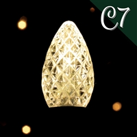 LED C7 Sun Warm White Transparent - Faceted (500 qty)