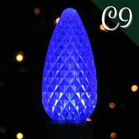 LED C9 Blue Transparent - Faceted (250 qty)
