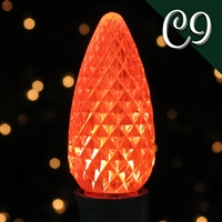 LED C9 Orange Transparent - Faceted (Qty 250)