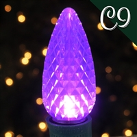 LED C9 Purple Transparent - Faceted (QTY 250)