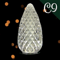 LED C9 Pure White Transparent - Faceted (500 qty)