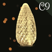 LED C9 Sun Warm White Transparent - Faceted (500 Qty)