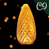 LED C9 Yellow Transparent - Faceted (250 qty)