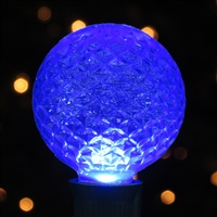 LED G50 Bulb - Blue Faceted (50 Qty)