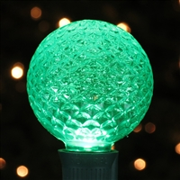LED G50 Bulb - Green Faceted (50 Qty)