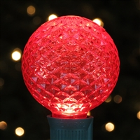 LED G50 Bulb - Red Faceted (50 Qty)