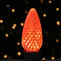 LED 25PK C9 Orange Transparent - Faceted (10 qty)=250 bulbs