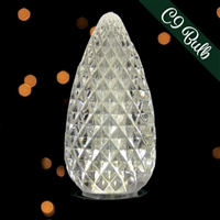 LED C9 25PK Pure White Transparent - Faceted (20 qty)=500 Bulbs