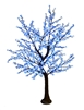 8.5' Brown Bark Cherry Blossom Tree - LED Pure White/Blue