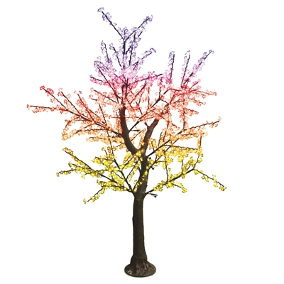8.5' Brown Bark Cherry Blossom Tree - LED RGB (Twinkly Pro)
