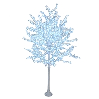 8.0' White Bark Cherry Blossom Tree - LED Pure White