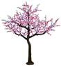 12' Commercial Cherry Blossom Tree - LED Pure White & Red