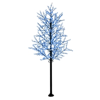 14' Commercial Cherry Blossom Tree - LED Pure White/Blue