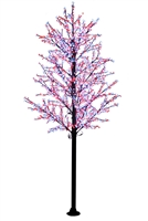 14' Commercial Cherry Blossom Tree - LED Pure White/Red
