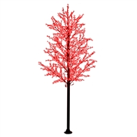14' Commercial Cherry Blossom Tree - LED Red