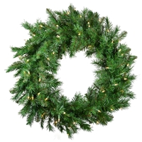 "Innsbruck Pine Wreath 30"" - Clear  (Qty 6)"