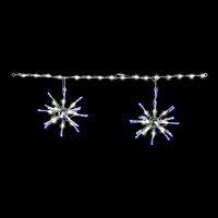 LED 3D Starburst Light Links (Pure White with Blue Tips) (QTY 6)