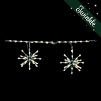 LED 3D Starburst Light Links (Warm White Twinkle) (QTY 6)