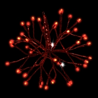 "LED 12"" 3D Shimmering Sphere - Red (Qty 6)"
