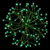 "LED 16"" 3D Shimmering Sphere - Green (Qty 6)"