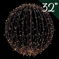 "LED 32"" 3D Foldable Sphere - Warm White"