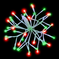 "LED 10"" 3D Starlight Cluster - Red/Green Combo (Qty 15)"