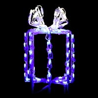 "LED 16"" 3D Giftbox Blue/Pure White"