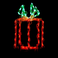"LED 16"" 3D Giftbox Red/Green"