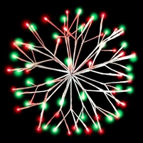 "LED 16"" 3D Starlight Cluster - Red/Green Combo (Qty 12)"