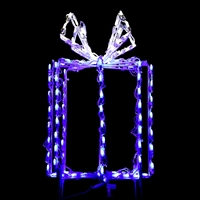 "LED 24"" 3D GiftBox Blue/Pure White"