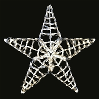 "LED Five Point Star 36""- Pure White"