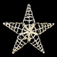 "LED Five Point Star 36""- Warm White"