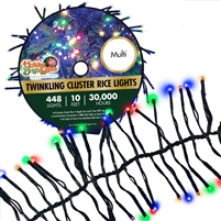 448L Twinkling Cluster Rice Light Set w/controller-MULTI (Qty 12)