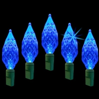 LED 50L Diamond Cut - Blue Twinkle (Qty 12)