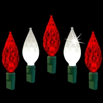 "LED Diamond Cut 6"" Spacing - Candy Cane Twinkle (Qty 12)"