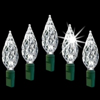 "LED Diamond Cut 6"" Spacing - Pure White Twinkle (Qty 12)"