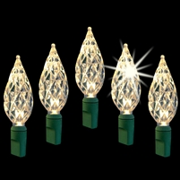 "LED Diamond Cut 6"" Spacing - Warm White Twinkle (Qty 12)"