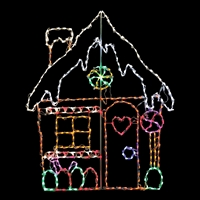 LED Gingerbread House