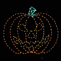LED Large Spooky Pumpkin