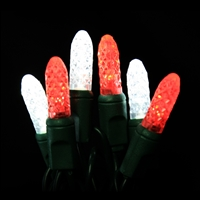 LED 50 M8 - Candy Cane - Red & Pure White (QTY 12)