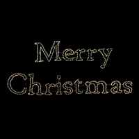 LED Merry Christmas Sign - Warm White