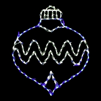 LED Ornament Oval Drop - Blue/Pure White