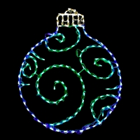 LED Ornament Round - Blue/Green
