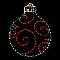 LED Ornament Round - Green/Red
